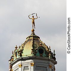 Maison du Roi d Espagne in Brussels - Detail of roof and...