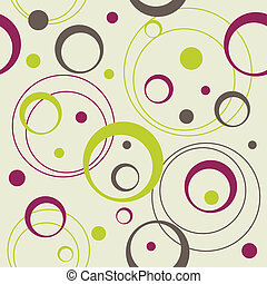 seamless retro pattern with circles and dots, vector...