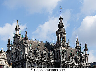 Kings House in Grand Place in Brussels - Detail of the roof...