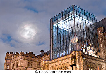 Moon Over Museum - Moon over The Canadian Museum of Nature A...