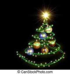 abstract christmas tree spiral