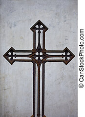 Old Rusty Vintage Cross - Interesting old 19th century...