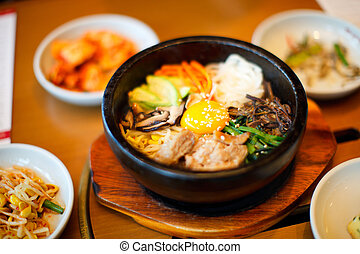 Korean food - Variety of a different delicious Korean dishes