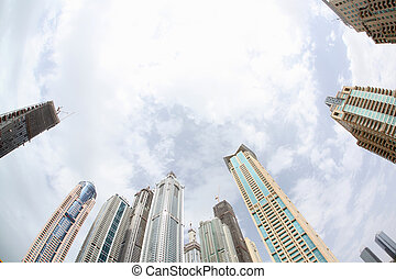 View of Skyscrapers from ground