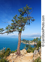 Tigullio gulf, Liguria, Italy - view of Tigullio Gulf and...
