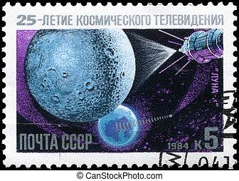 USSR - CIRCA 1984 Luna 3