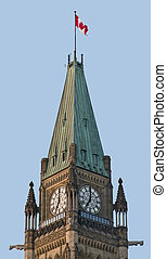 7 OClock Politics - A corner view of the canadian Parliament...