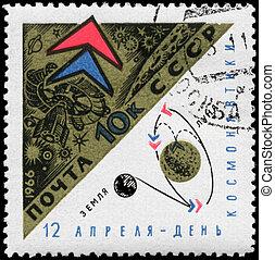 USSR - CIRCA 1966 Luna 10