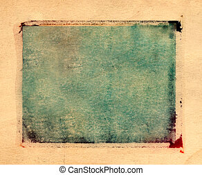 Polaroid Transfer border - Green and yellow grungy creative...