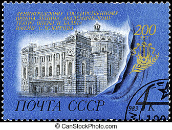 USSR - CIRCA 1983 Theater - USSR - CIRCA 1983: A Stamp...