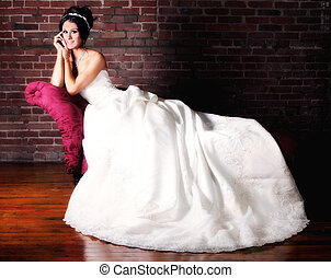 Portrait of a Young Bride Getting Married - Bridal Portrait...