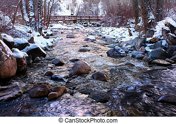 Grizzly Creek in Colorado - Frigid waters of Grizzly Creek...