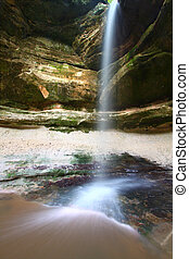 Owl Canyon - Starved Rock State Park - Water flows over...