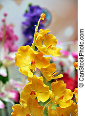 Artificial flowers - Beautiful bouquet of artificial Orchid...