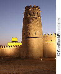Al Jahili fort in Al Ain, Emirate of Abu Dhabi