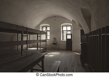 Barracks Room In Terezin - One of the dormitory rooms in the...