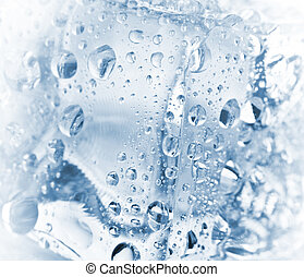 ice cubes - abstract backgrounds with ice cubes over wet...