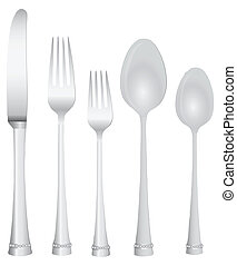 Table Set - Cutlery Serving Knife two forks and two spoons....