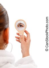 Beauty mask in the mirror