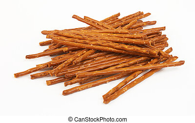 pile of pretzel sticks - closeup of a pile of pretzel sticks