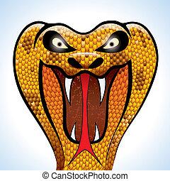 assustador, Cobra, cabeça