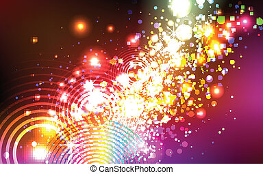 beautiful colorful explosion
