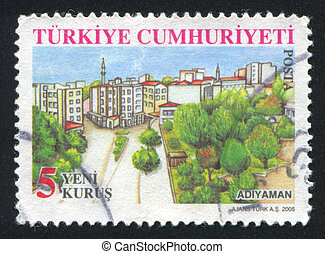 province Adiyaman - TURKEY - CIRCA 2005: stamp printed by...