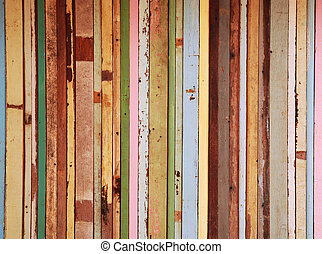 Candy color woode wall