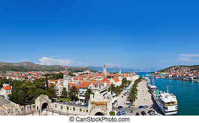 Panorama of Trogir in Croatia - architecture background