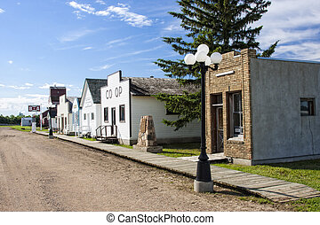 Main Street Buildings - Refurbished stores and buildings at...