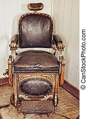Barber's Chair - Vintage barber's chair restored back to...