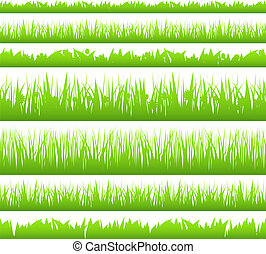 Silhoette of seamless grass, vector eps10 illustration
