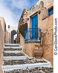 Staircase in the village - Staircase as a pavement in the...