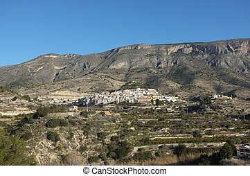 Costa Blanca inland scenics, Sella village, Spain