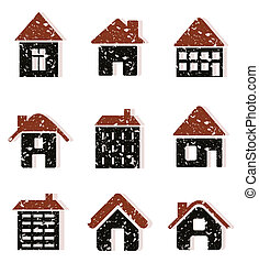 House8 - Set of icons of houses. A vector illustration
