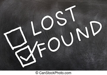 Lost and found check boxes with found checked, written with...