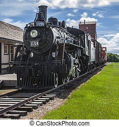 Prairie Train Station - Vintage train station on the...