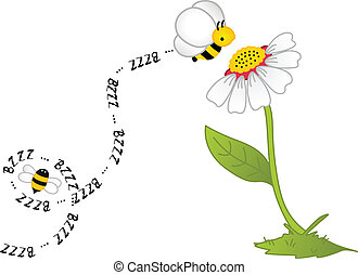 Bee Bzzz Flower - Image representing a bee bzzz flower,...