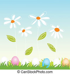 floral, easter greeting card