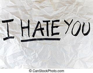 Escreva, i, ódio, tu, papel
