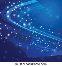 Vector Illustration of Abstract blue Light background