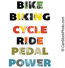 Basic RGB - A set of capital letter graphics for cycling...