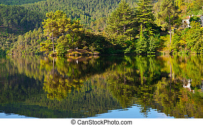 Shore of Lake - The House on the Shore of Lake in the French...