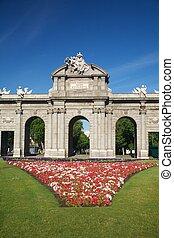 Puerta de Alcala with flowers