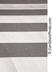 striped background crosswalk - lonely new street at Madrid...