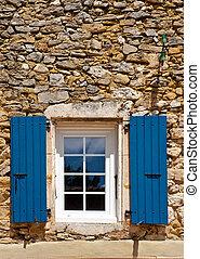 Window in Viviers, the Department de l' Ardèche in the...