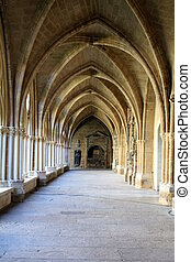 Cloister of St-Marie Cathedral in Bayonne (North-West-France