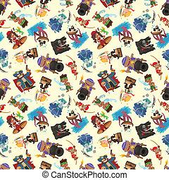 seamless pirate pattern