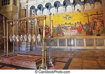 Temple of the Holy Sepulcher in Jerusalem.