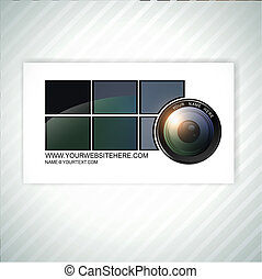 photographer business card template - photographer abstract...